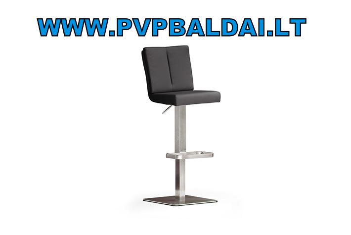 1-Bruni PU_schwarz 2 vnt. baro kėdžių